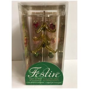 🆕🌲 New Crystal Christmas Tree & Ornaments